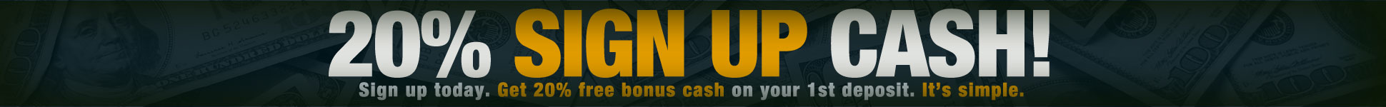 Join and get 20% Cash Back On First Deposit