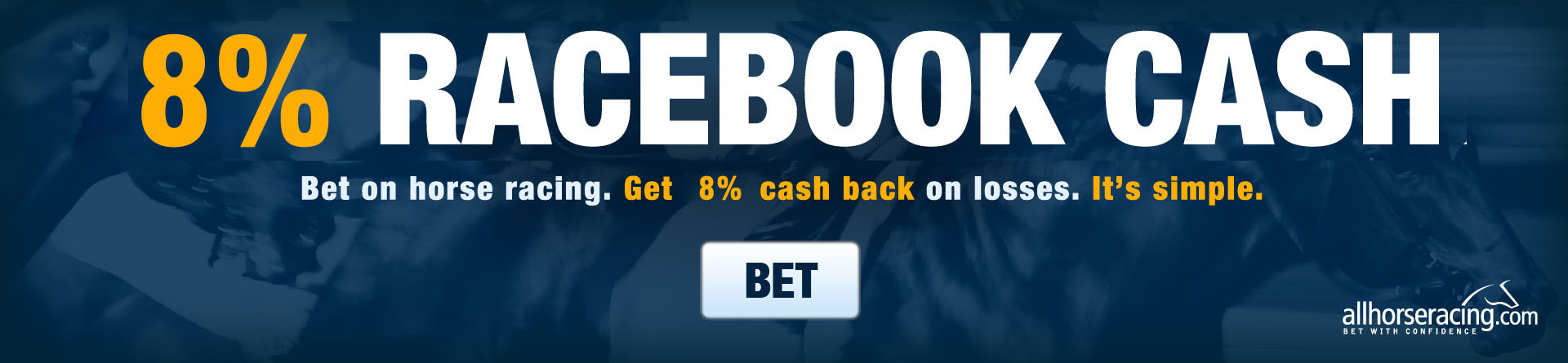 Get 8% Cash Back on Horse Racing